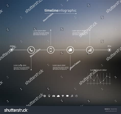 timeline background timeline infographic with unfocused background and icons