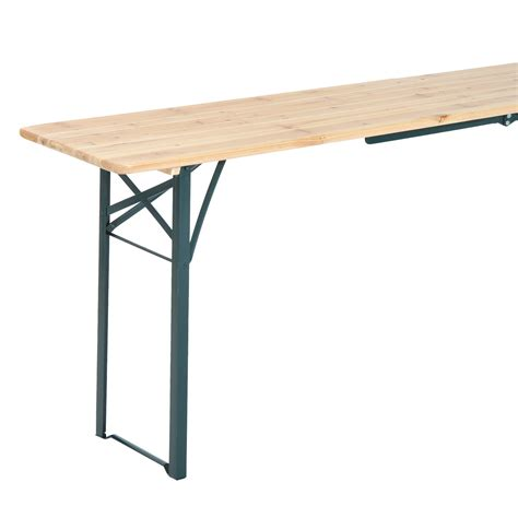 Folding Wooden Picnic Table Outsunny 7ft Wooden Folding Picnic Table Set With Benches St S Day