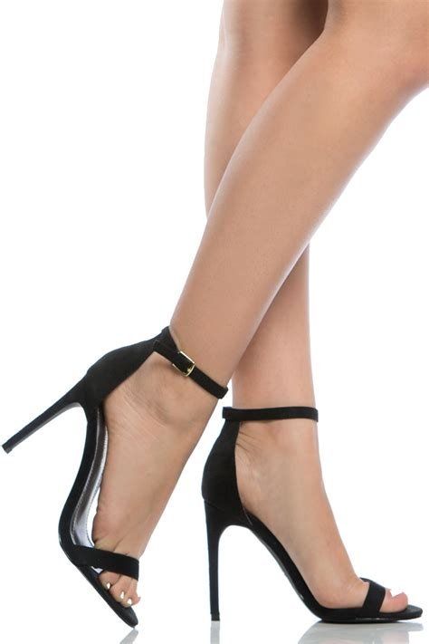 black high heel shoes with soles black faux suede ankle single sole heels cicihot