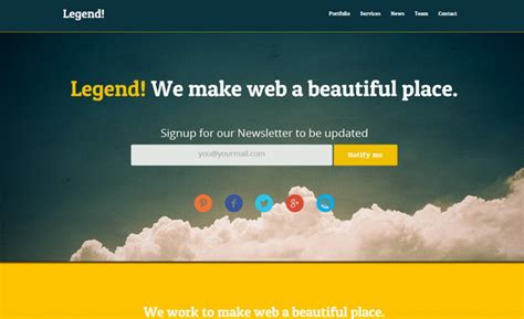 free html landing page template 25 best html landing page templates