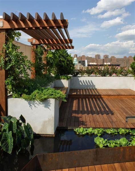 Roof Garden Accessories Roof Gardens With Ponds