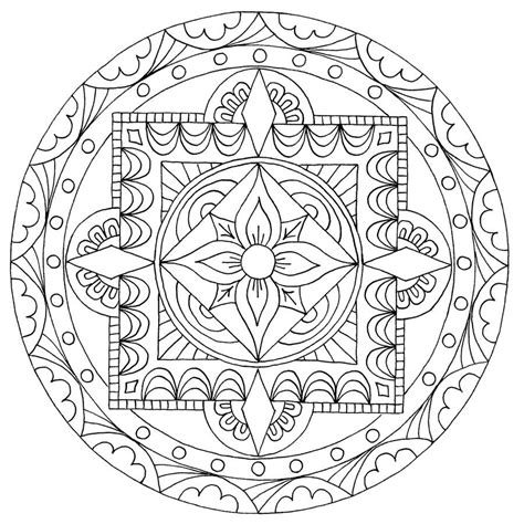 coloring pages mandala relax with coloring mandala denver museum