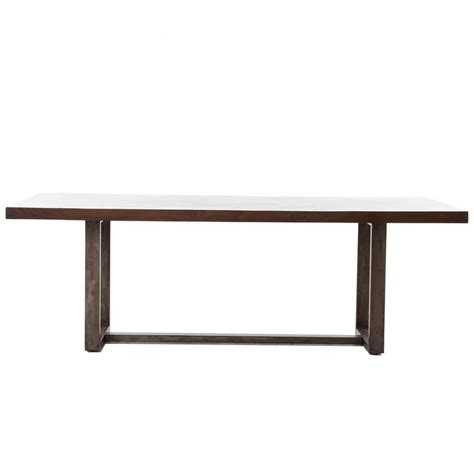Chunky Wood Dining Table Bromley Rustic Timber Oak Chunky Wood Iron Rectangle Dining Table