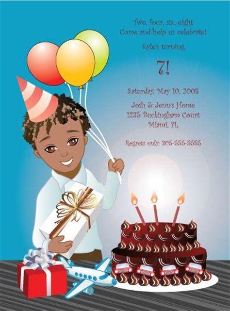 african american happy birthday cards  birthday boy deserves special invitations