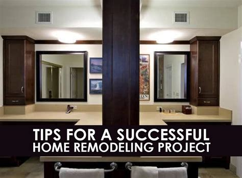 tips for a successful home remodeling project