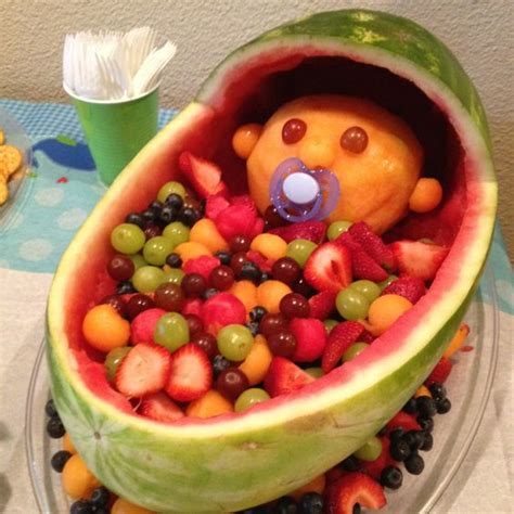 Watermelon Crib For Baby Shower New Baby Watermelon Server Baby Shower Food Lookin New Babies Watermelon