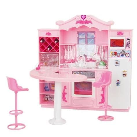 barbie kitchen furniture barbie doll furniture toy full kitchen with refrigerator