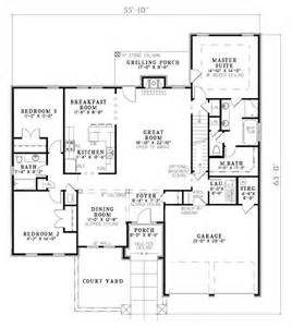 4 Bedroom House Plan house plan 82109 at familyhomeplans com