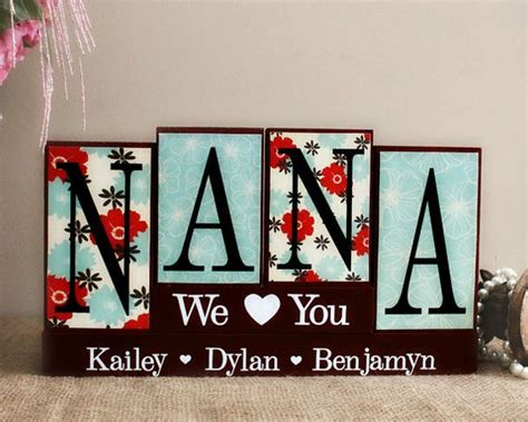 personalized gift for nana christmas gift idea nana wood