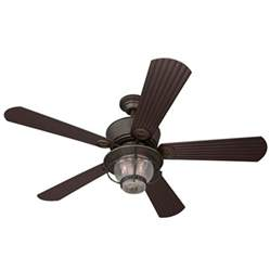 Outdoor Flush Mount Ceiling Fan Shop Harbor 52 In Merrimack Gilded Bronze Outdoor