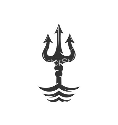 maserati trident tattoo trident on the waves logo vector sew fun