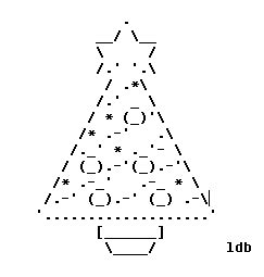ascii christmas tree weekend programming challenge week 66 tree ascii olimex