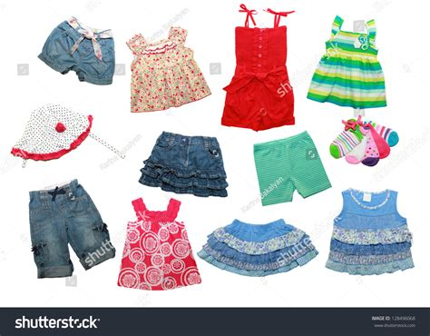 summer clothes summer clothes for a isolated on white stock