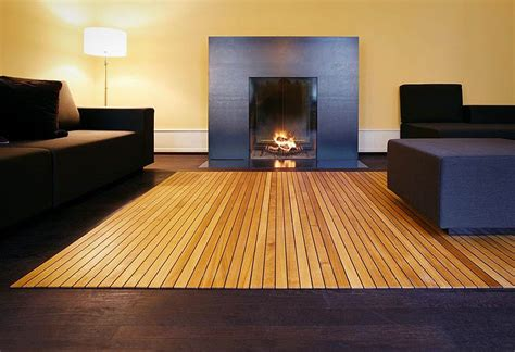 wooden area rug by ruckstuhl lumberjac