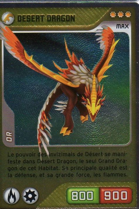 carte panini invizimals defis caches desert dragon