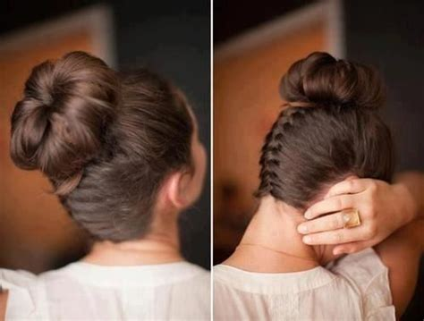 how to back your braids in doughnut bun by the sife upside down french braid bun hair inspiration pinterest
