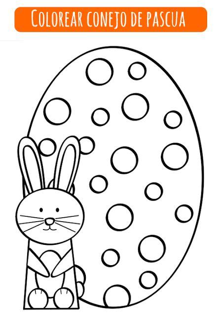 imagenes de pascuas navideñas para dibujar colorear conejo de pascua easter manualidades and ideas