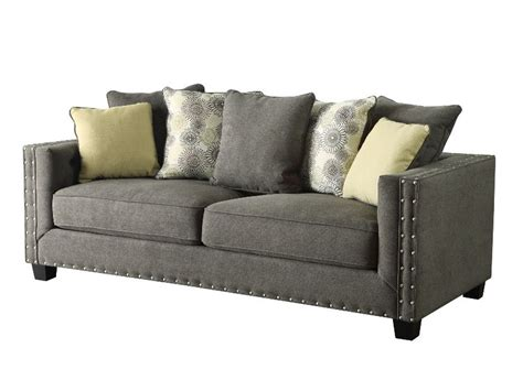 grey fabric sofas coaster kelvington 501421 grey fabric sofa steal a sofa