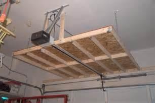 diy hanging garage shelves garage overhead storage