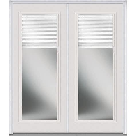 White Exterior Doors Doorbuild Mini Blinds Collection Steel Prehung Entry Door Brilliant White 72 Quot X80