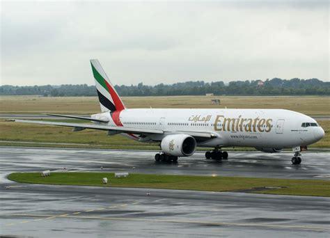 emirates ek 357 emirates a6 emj boeing 777 200 er 20 06 2011 dus eddl