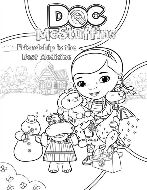 doc mcstuffins coloring pages disney junior doc mcstuffins lambie coloring pages coloring home
