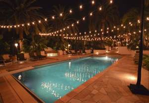 lights for patios hanging patio string lights a pattern of perfection