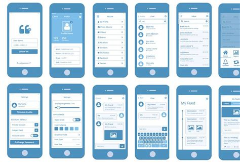 mobile application template wireframe pixelpush design