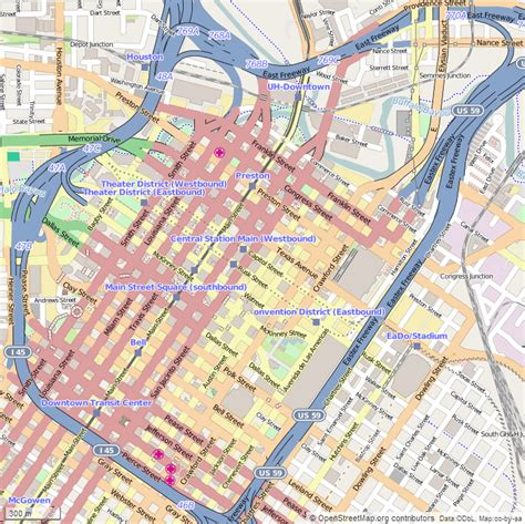 map of downtown houston texas map of downtown houston world map 07