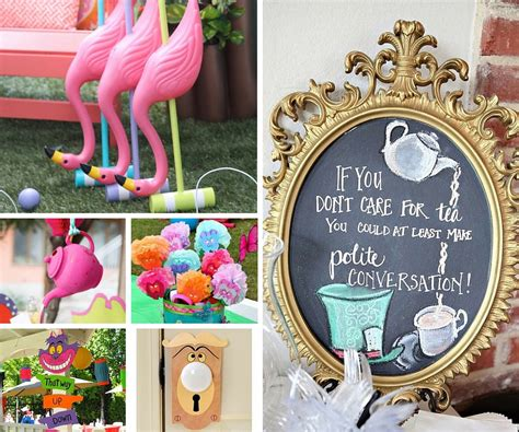 1st Birthday Decoration Ideas At Home by Alice In Wonderland Party Supplies For Fabulous Little