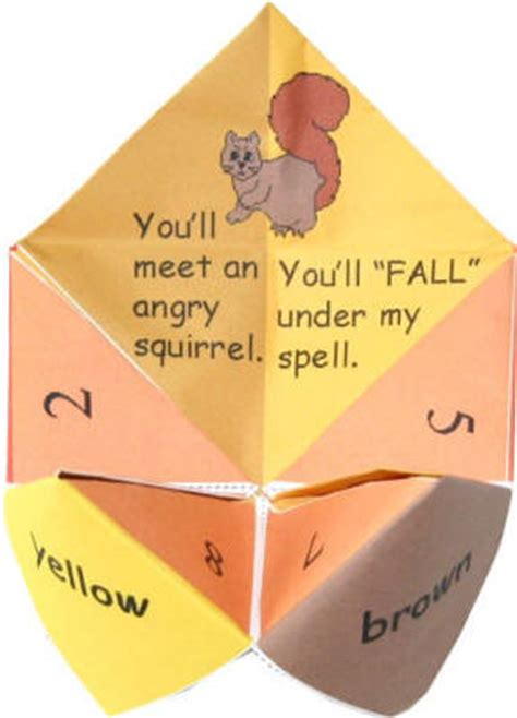 what to write on a paper fortune teller printable thanksgiving fortune tellers happy easter