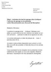 Modele Lettre Résiliation De Bail Québec Modele Lettre Resiliation Bail Garage