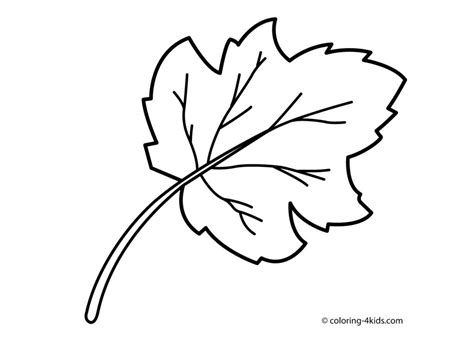 leaf coloring page leaf coloring pages free printable