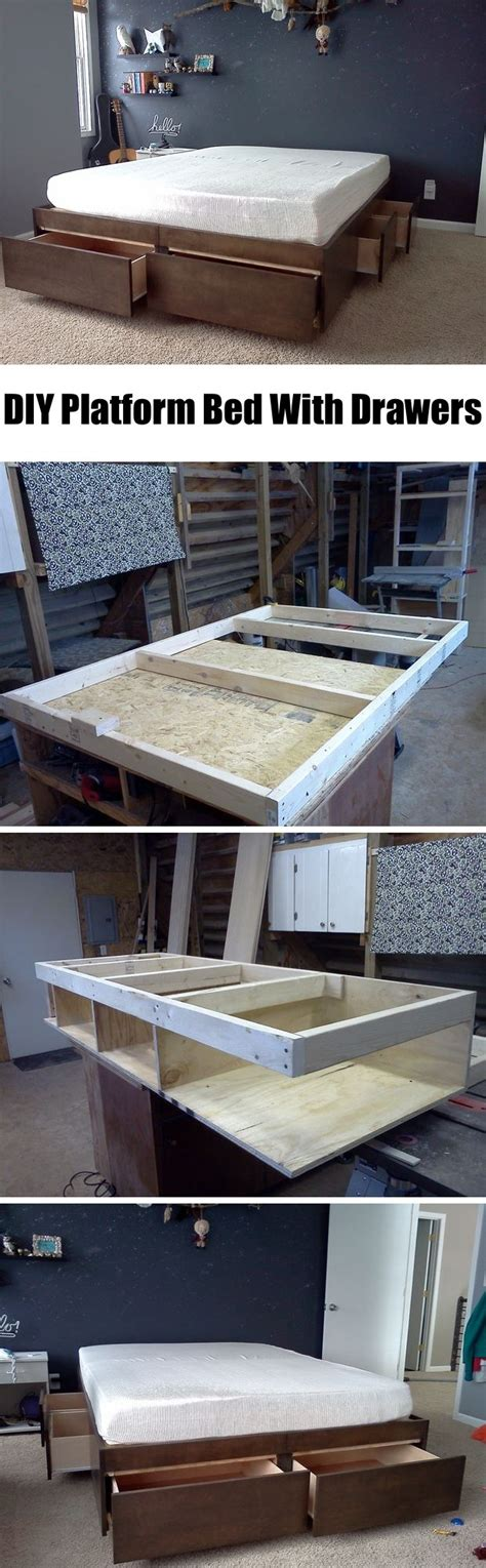 diy bed frame with drawers 36 easy diy bed frame projects to upgrade your bedroom