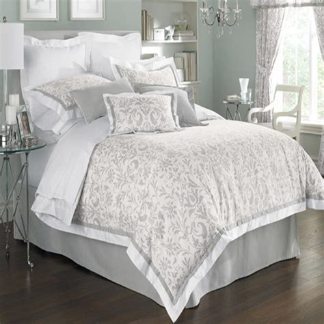 gray white comforter set home styling pinterest