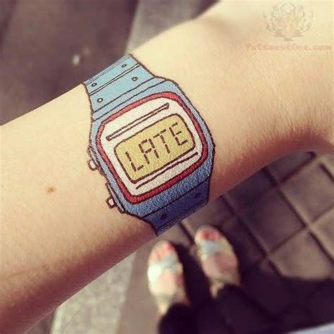 watch tattoo on wrist clock images designs