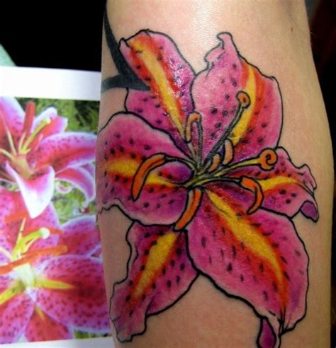 pink lily tattoo designs 50 flower tattoos for part 2 amazing