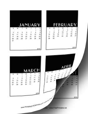 printable calendar vertical 2016 printable 2016 vertical scrapbook calendar cards