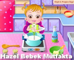 bebek pasta oyunlari hazel bebek mutfakta oyna