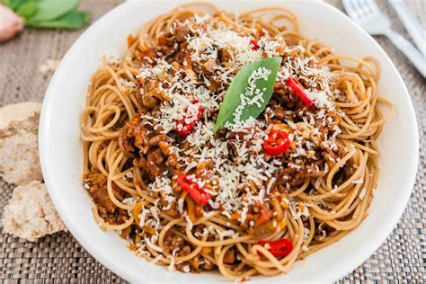 Spghetti Bolognese healthy spaghetti bolognese