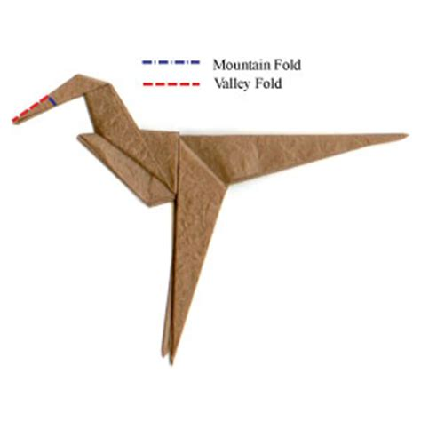 Origami Velociraptor - how to make a simple origami velociraptor page 5