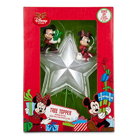 mickey and minnie christmas tree topper disney mickey minnie mouse lighted tree topper new in box ebay