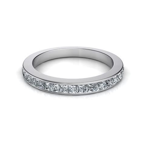 0 85 ct 3mm princess cut channel set wedding band