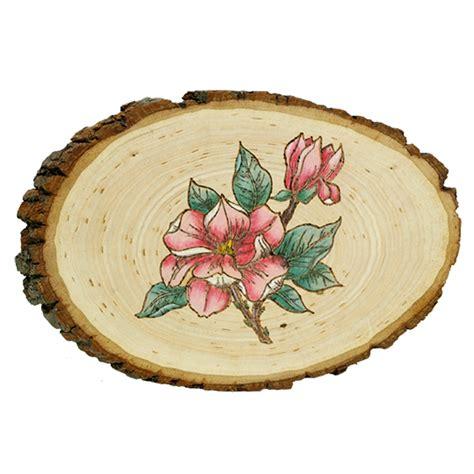 magnolia flower plaque walnut hollow craft