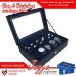 Kotak Jam Tangan Brown Croco Doff Isi 10 brown box mix ring organizer box jam kombinasi tempat cincin