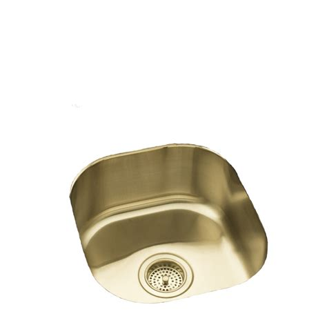 kohler bar sink stainless shop kohler undertone 18 gauge single basin undermount