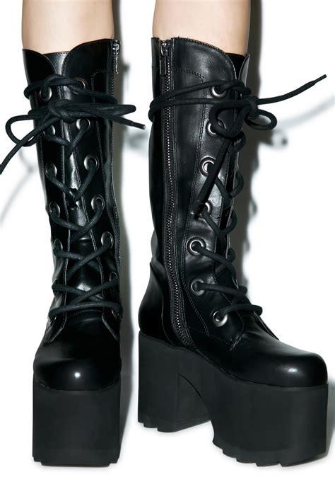 platform boots y r u forest platform boots dolls kill
