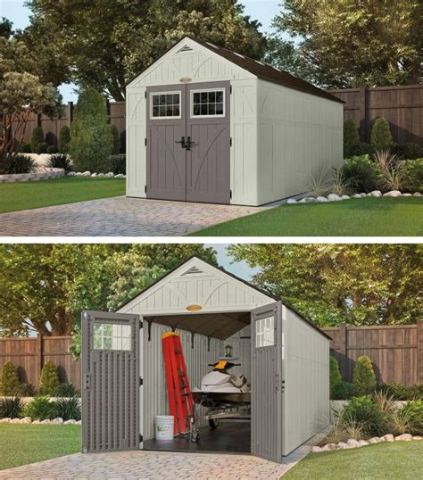 outdoor space clutter    durable shed