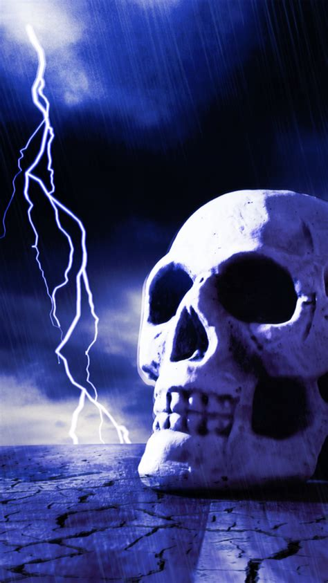 amazoncom lightning skull interactive  wallpaper