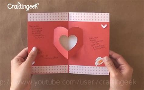 C 14 Valen como hacer tarjetas pop up san valentin proyectos que